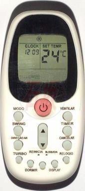 Controle remoto ar condicionado Split Midea cod. ref. C01308
