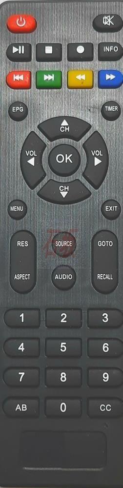Controle remoto azamerica f-92 plus e shop+hd