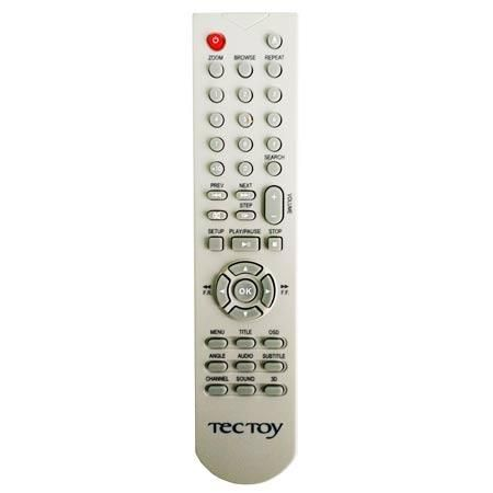 Controle remoto DVD Tectoy com tecla 3D ref. 2170